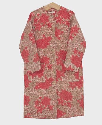 Quiltet silke jakke - Sissel Edelbo - Koral