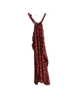 Halter-Neck kjole m. mønster