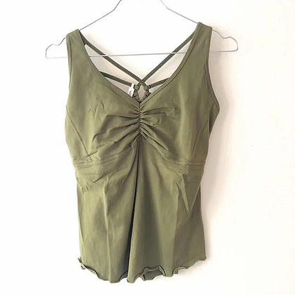 Yoga top - Khaki grøn