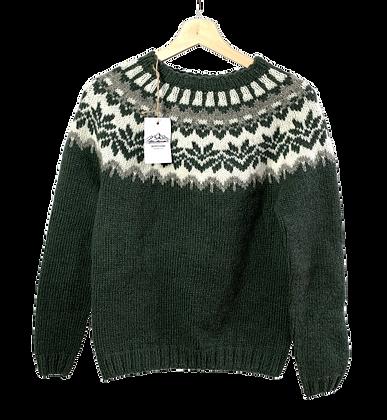 Monte Home Vidak Sweater Grønt Mønster