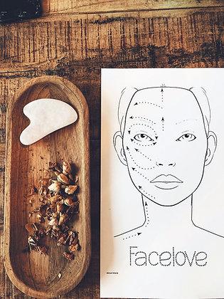 Facelove Gua-Sha Sten Til ansigtet