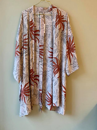 Relove and Roses Kimono i silke - Kort #22