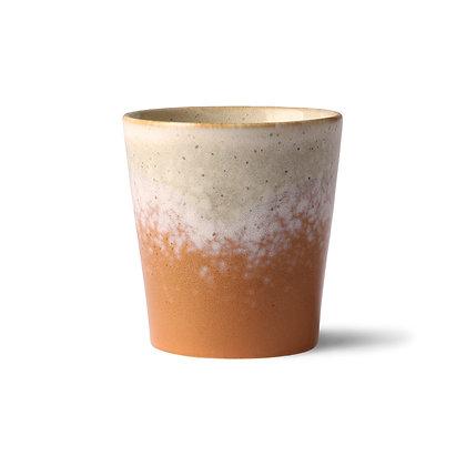 keramik krus i brun/creme