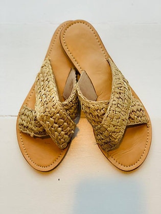 Sandals light with leather sole