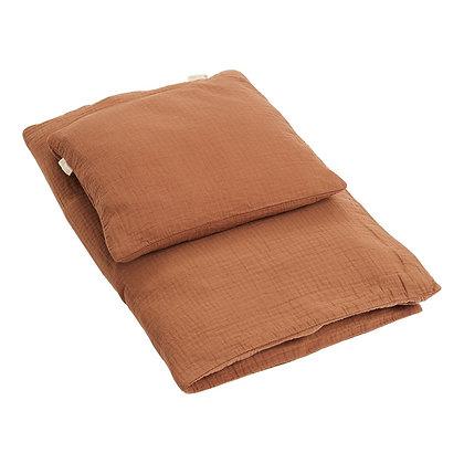 Sengetøj JUNIOR fra Klipklap - Camel brown