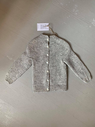 Gray knit cardigan children
