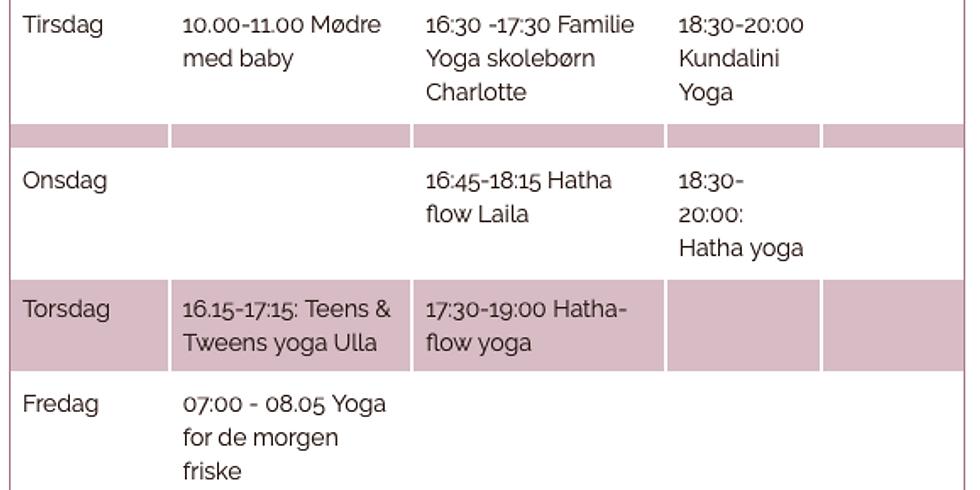 Ny Yogasæson i Yogahjørnet