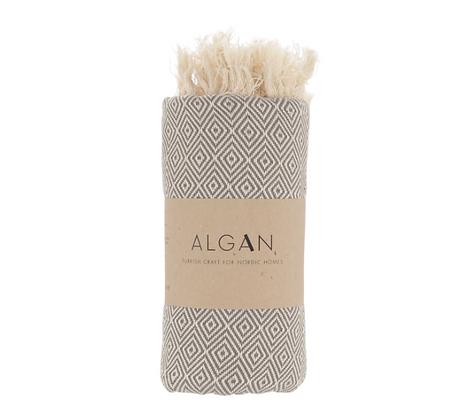 Hamam badehåndklæde, Stor/lille - Grey