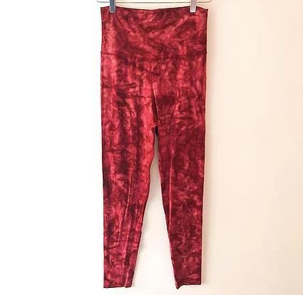 Børne yoga leggings - Rød