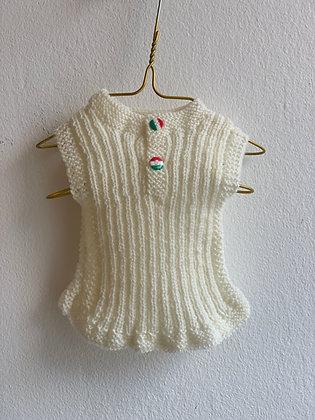 Ulden undertrøje - hvid