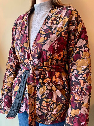 Relove&Roses quiltet jakke brændte farverr