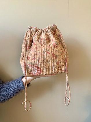 Luna Bag af silke - Lys orange m. mønster - Relove and Roses