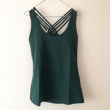 Yoga top - Mørkegrøn