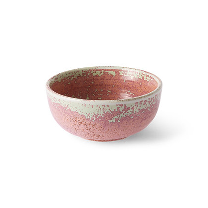 Rustik skål i pink