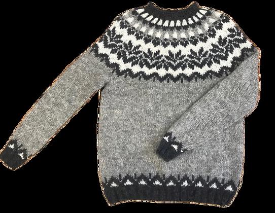 Monte Home Vidak Sweater Gråt Mønster