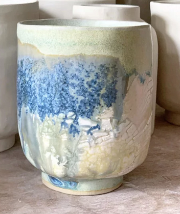 Keramik krus i farven Vesterhav