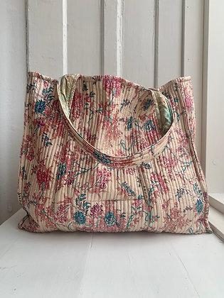 Quiltet tote bag #4 - Relove&Roses