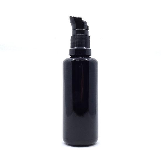 Flacon pompe noir pour mélanges