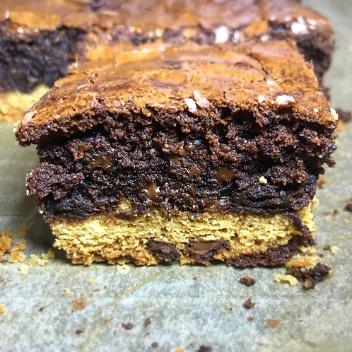 """the Whitman"" Cookie Dough Brownies"