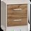 Thumbnail: Takiwira White 2 Drawer Bedside Table