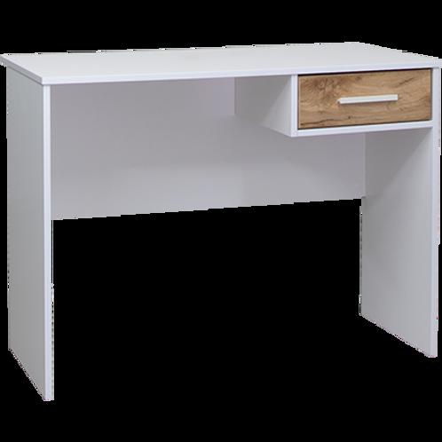 Takiwira White 1 Drawer Desk