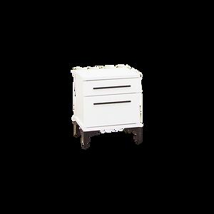 Aza White Bedside table by Platform 10 Furniture