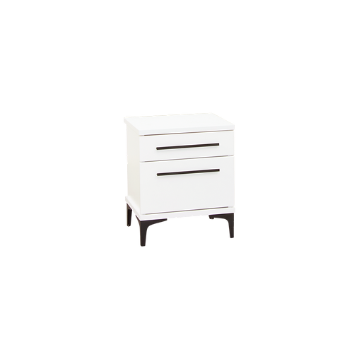 AZA WHITE TWO DRAWER BEDSIDE