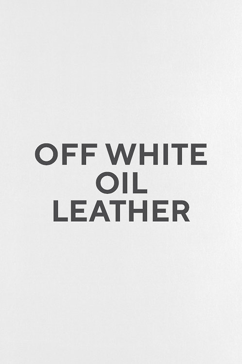 Off White Oil Leather