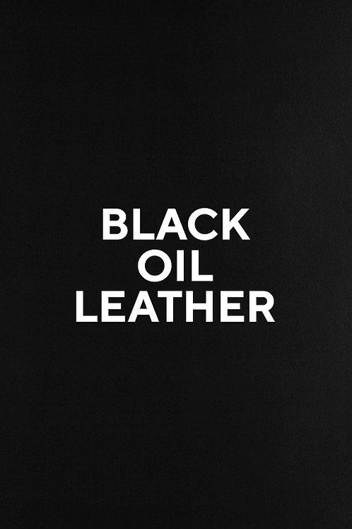 Black Oil Leather