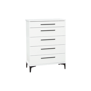 Aza White Bedside Chest by Platform 10 Furniture