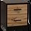 Thumbnail: Takiwira Black 2 Drawer Bedside Table