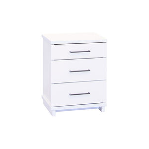 Franz White Two Drawer Bedside Table by Platform 10 Furniture