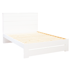 Aza White Queen Bedframe by Platform 10 Furniture