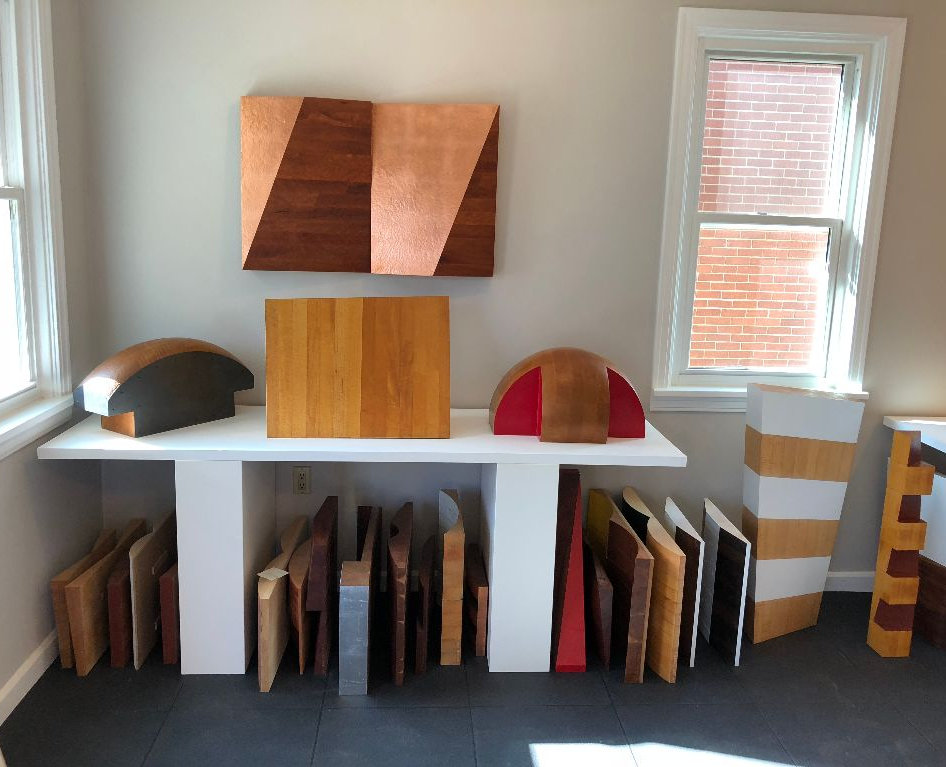 Available wood wall and pedestal sculpture
