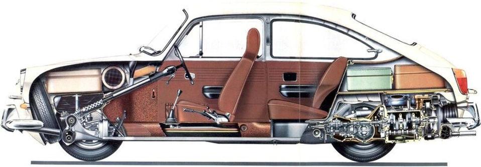 VW 1600 TL и в разрезе