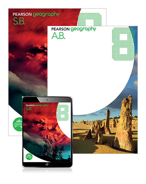 Pearson Geography 8 Student Book and Activity Book with Reader+