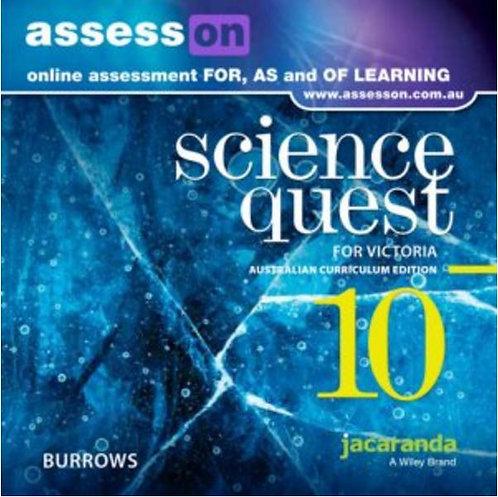Jacaranda Science Quest 10 for Victoria Australian Curriculum AssessON (DIGITAL)