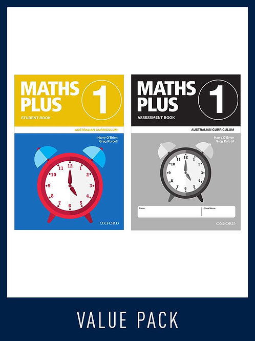 Maths Plus Australian Curriculum Student and Assessment Book 1 Value Pack 2020