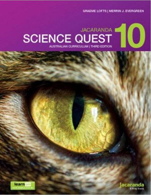 Jacaranda Science Quest 10 Australian Curriculum 3E (PRINT + DIGITAL)