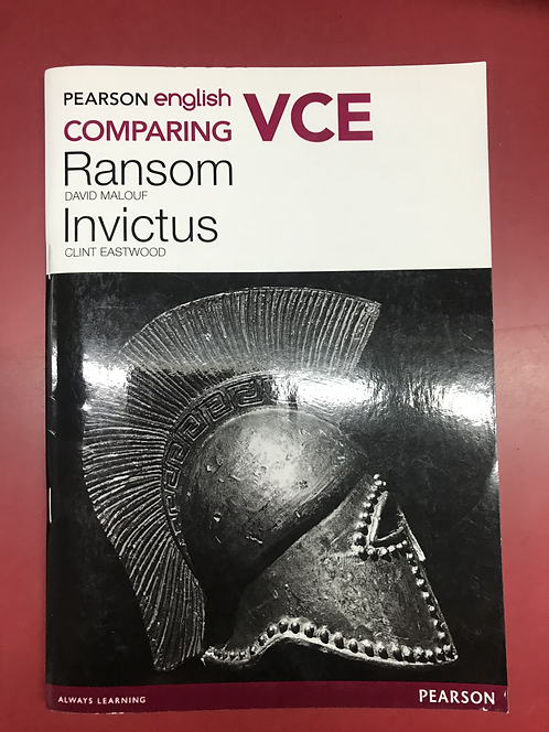 Pearson English VCE Comparing Ransom/Invictus (SECOND HAND)