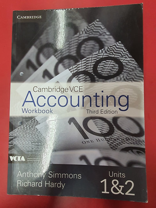 Cambridge VCE Accounting Units 1&2 3E Workbook (SECOND HAND)