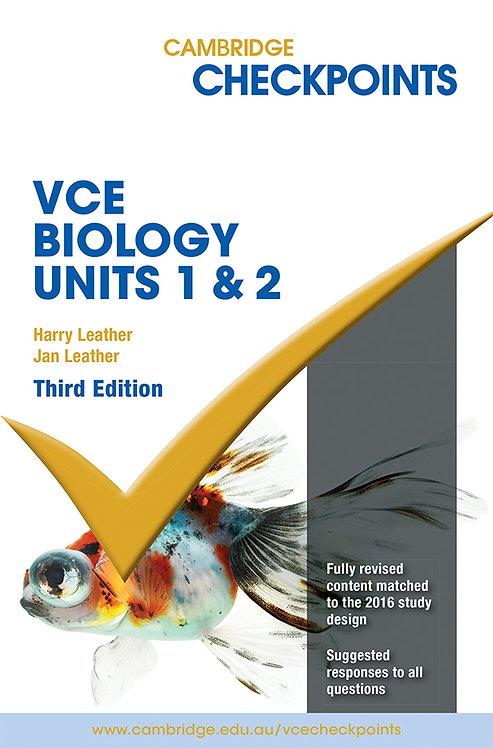 Cambridge Checkpoints VCE Biology Units 1&2 3E