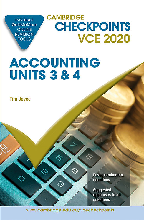 Cambridge Checkpoints VCE Accounting Units 3&4 2020