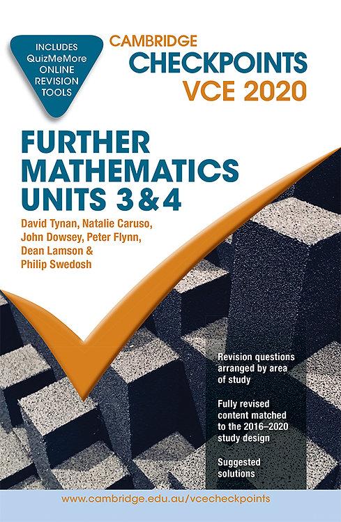 Cambridge Checkpoints VCE Further Mathematics Units 3&4 2020