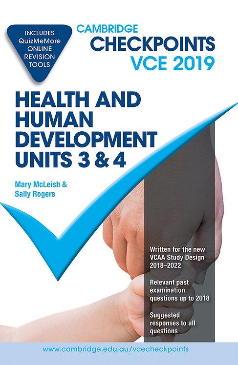Cambridge Checkpoints VCE Health and Human Development Units 3&4 2019
