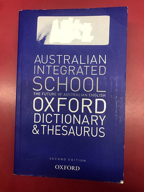 Australian Integrated School Oxford Dictionary & Thesaurus (SECOND HAND)