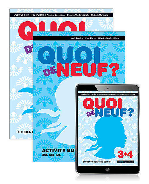 Quoi de neuf?3+4 Student Book with Reader+ and Activity Book 2E(PRINT + DIGITAL)