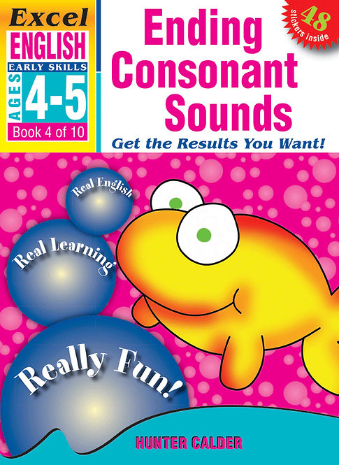 Excel Early Skills: English Book 4 Ending Consonant Sounds