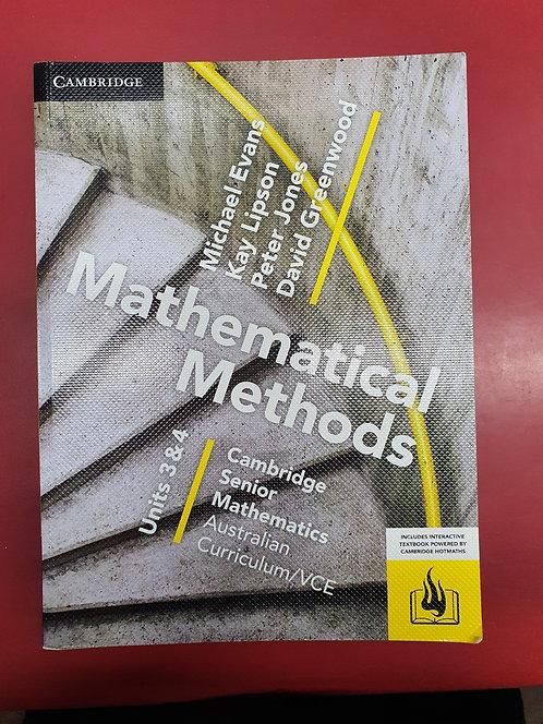 Cambridge Senior Maths: VCE Mathematical Methods Units 3&4 (PRINT) (SECOND HAND)