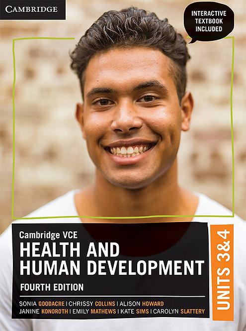 Cambridge VCE Health and Human Development Units 3&4 4E (DIGITAL)